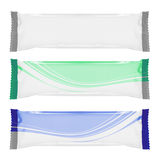 Weißes unbelegtes Folienverpacken. bereiten Sie für Ihre Auslegung vor Lizenzfreies Stockbild