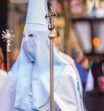 Weißes und blaues Nazareno Stockfoto