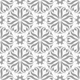 Weißes und graues nahtloses mit Blumenmuster Lizenzfreies Stockfoto