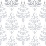 Weißes und graues Vektormuster Tapezieren Sie Hintergrund für Einladungen, Grußkarten, Webseite nahtlos Lizenzfreie Stockbilder