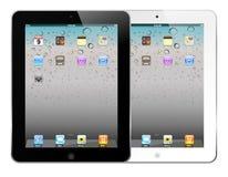 Weißes und schwarzes iPad 2 Stockbild