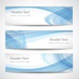 Weißes Vektordesign der abstrakten Welle des Titels blauen lizenzfreie abbildung
