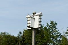 Weißes Vogelhaus Stockfotografie
