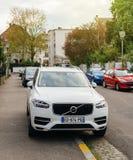 Weißes Volvo XC90 spätestes SUV von Volvo Lizenzfreies Stockbild