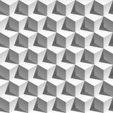 weißes Würfelmuster des Effektes 3D Vektor Abbildung