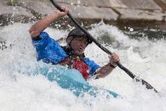 Weißes Wasser canoeing Stockbilder