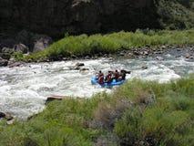 Weißes Wasser, das in Kolorado flößt. Stockbilder
