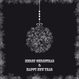 Weißes Weihnachtsballschneeflocken Stockbild