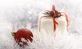 Weißes Weihnachtskarte Stockfotos