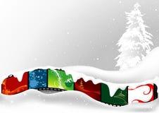Weißes Weihnachtskarte Lizenzfreies Stockbild