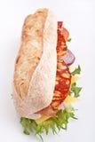 Weißes Weizenstangenbrotsandwich lizenzfreies stockbild