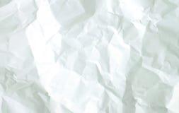 Weißes zerknittertes Papier Stockfotos