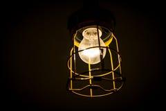Weißglühende alte industrielle Lampe Lizenzfreies Stockbild