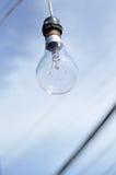 Weißglühende Lampe Stockfoto