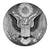 Weißkopfseeadler auf einem USA-Dollar Lizenzfreies Stockbild