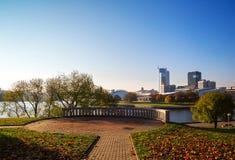 Weißrussland, Minsk, Pobediteley-Allee Lizenzfreie Stockbilder