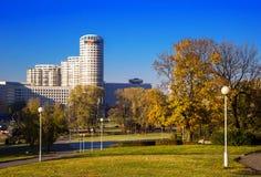 Weißrussland, Minsk, Pobediteley-Allee Lizenzfreies Stockfoto