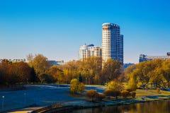 Weißrussland, Minsk, Pobediteley-Allee Stockbilder