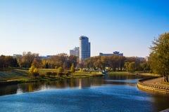 Weißrussland, Minsk, Pobediteley-Allee Lizenzfreies Stockbild
