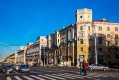 Weißrussland, Minsk, Unabhängigkeits-Allee Lizenzfreie Stockfotografie