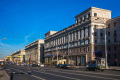 Weißrussland, Minsk, Unabhängigkeits-Allee Lizenzfreies Stockbild