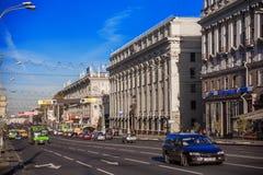 Weißrussland, Minsk, Unabhängigkeits-Allee Stockbilder