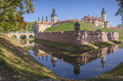 Weißrussland, Nesvizh: Nesvizh-Schloss Lizenzfreie Stockfotografie
