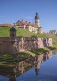 Weißrussland, Nesvizh: Nesvizh-Schloss Stockfotografie