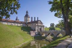 Weißrussland, Nesvizh: Nesvizh-Schloss Lizenzfreie Stockbilder
