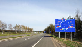 Weißrussland-Verkehrsschild lizenzfreie stockbilder