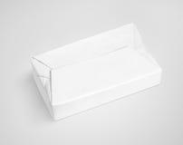 Weißverbreitungsbutterverpackungs-Kastenpaket auf Grau Lizenzfreies Stockbild