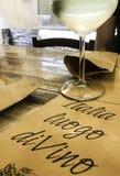 Weißwein in Rom Lizenzfreies Stockbild