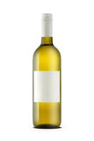 Weißweinflasche mit leerer Etikette lizenzfreie stockfotos