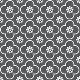 Weiß auf grauem Wiederholungsmusterhintergrund des Vereins und des Kreises nahtlosem stockfotos