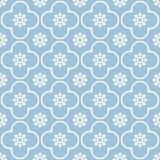 Weiß auf hellblauem Wiederholungsmusterhintergrund des Vereins und des Kreises nahtlosem lizenzfreies stockbild