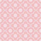 Weiß auf rosa Wiederholungsmusterhintergrund des Vereins und des Kreises nahtlosem lizenzfreie stockbilder