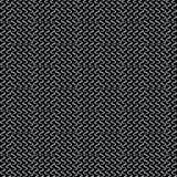 Weiß auf schwarzem Makro-Mesh Seamless Vector Pattern Hand gezeichnete Beschaffenheit stock abbildung