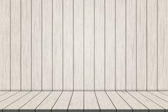 Weiße hölzerne Fußbodenbretter der Illustration auf weißer hölzerner Wand für Montage Ihr Produkt lizenzfreie stockfotos