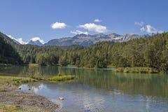 Weißensee pod Paprociową przepustką w Tyrol zdjęcia stock