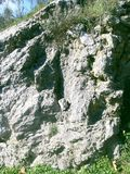 Weißer Granitfelsen im Berg lizenzfreies stockfoto