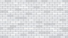 Weißer oder grauer Backsteinmauerbeschaffenheitshintergrund des nahtlosen Musters lizenzfreie abbildung