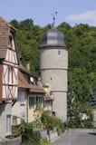 WeiÃer Turm in Marktbreit Royalty-vrije Stock Afbeeldingen