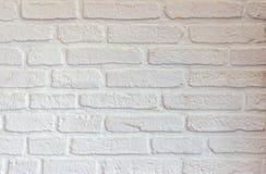 Wei?er Backsteinmauerbeschaffenheitshintergrund stockfoto