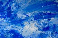Wei?er und blauer gemalter Hintergrund des k?nstlerischen Zusammenfassungs?ls Beschaffenheit, Hintergrund lizenzfreie stockbilder
