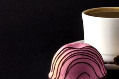 Wei?es Cup hei?er Kaffee lizenzfreie stockfotografie