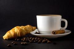 Wei?es Cup hei?er Kaffee lizenzfreie stockfotos
