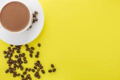 Wei?es Cup hei?er Kaffee lizenzfreies stockfoto