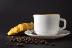 Wei?es Cup hei?er Kaffee stockbilder
