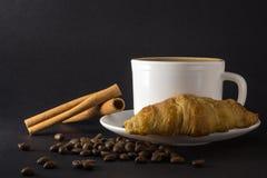 Wei?es Cup hei?er Kaffee stockbild