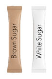 Weiß und Brown-Pakete für Zucker Wiedergabe 3d Stockfotos
